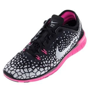 NIKE FREE 5.0 TR Fit 5 Print Sneaker Pink/Black